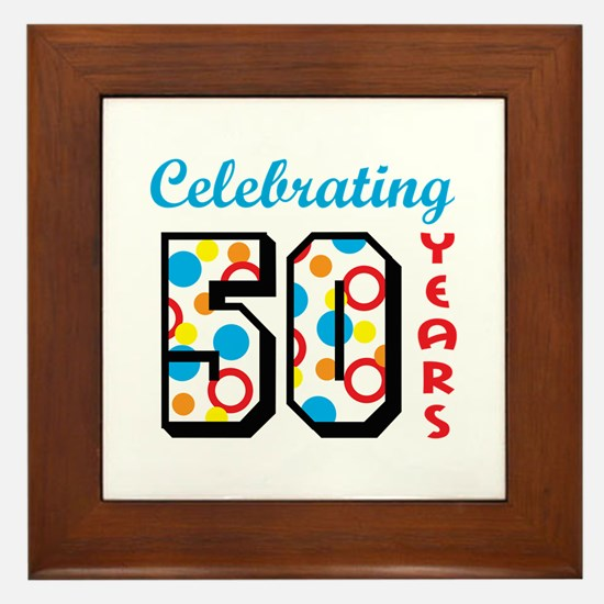 CELEBRATING FIFTY Framed Tile