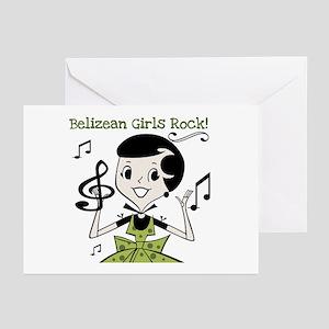 Belizean Girls Rock Greeting Cards (Pk of 10)