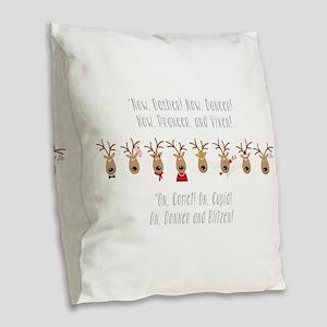 Now Dasher Burlap Throw Pillow