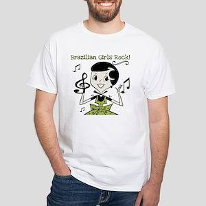Brazilian Girls Rock White T-Shirt