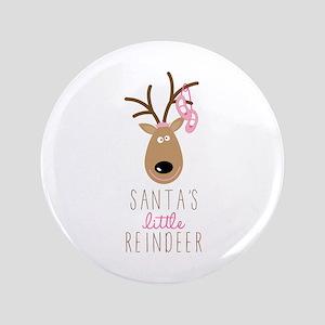 """Santas Reindeer 3.5"""" Button"""