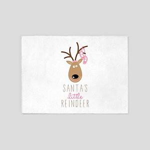 Santas Reindeer 5'x7'Area Rug