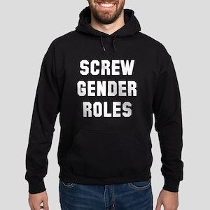 Screw Gender Roles Hoodie (dark)
