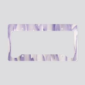 Abstract Orchid Painting License Plate Holder