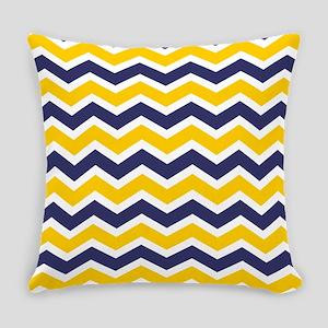 Nautical Chevron Yellow Everyday Pillow