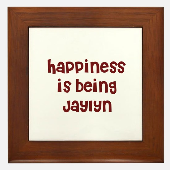 happiness is being Jaylyn Framed Tile