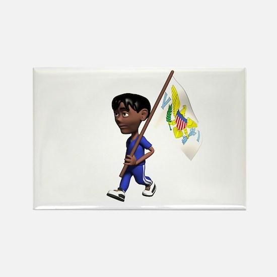 US Virgin Islands Boy Rectangle Magnet