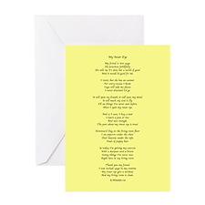 Yoga Poem Yellow Greeting Cards