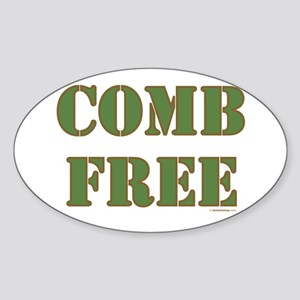 Comb Free Oval Sticker