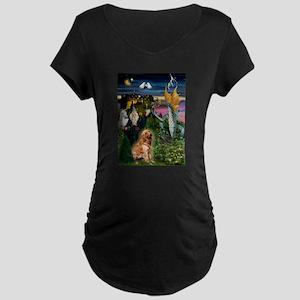 The Magical Golden Maternity Dark T-Shirt