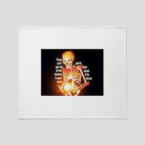 Skeletons Throw Blanket