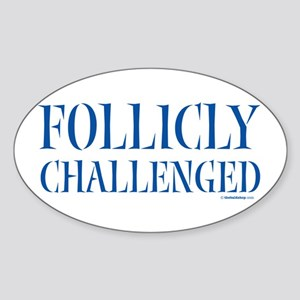 Follicly Challenged Oval Sticker