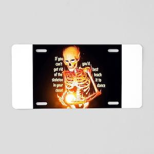 Skeletons Aluminum License Plate