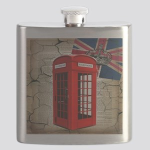 union jack telephone booth Flask