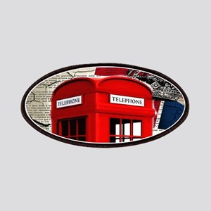 union jack telephone booth Patch