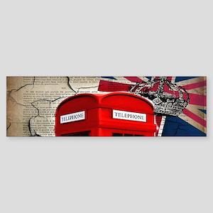 union jack telephone booth Bumper Sticker