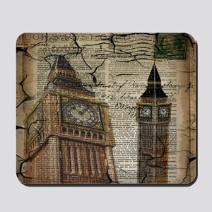 vintage london big ben Mousepad