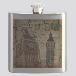 vintage london big ben Flask