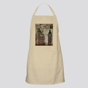 vintage london big ben Apron