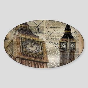 vintage london big ben Sticker