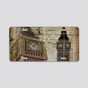 vintage london big ben Aluminum License Plate