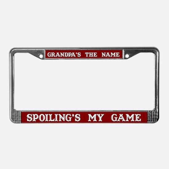 Grandpa's Name License Plate Frame