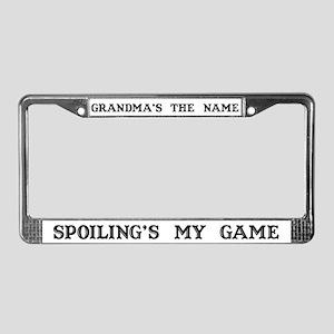 Grandma's Name #4 License Plate Frame