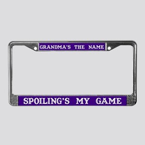 Grandma's Name #3 License Plate Frame