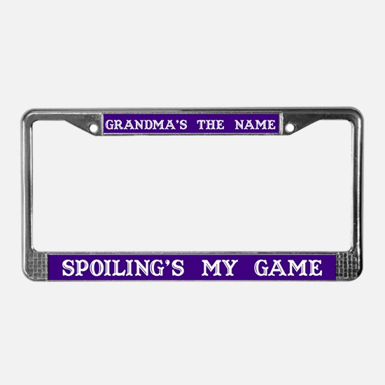 Grandma's Name #3 License Plate Frame