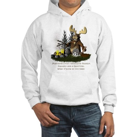 Moose Camping Hooded Sweatshirt