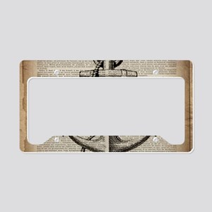 nautical vintage anchor License Plate Holder