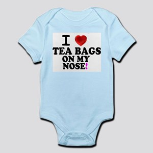 I LOVE TEA BAGS ON MY NOSE! Body Suit