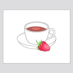 COFFEE CUP AND STRAWBERRY Posters