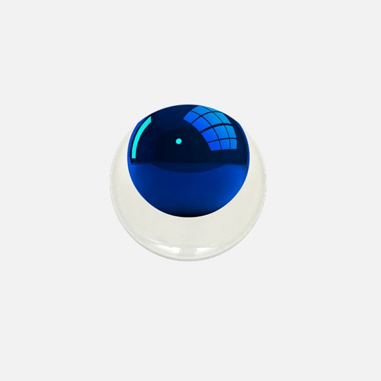 Reflective Blue Ball Mini Button