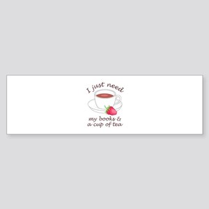 BOOKS AND TEA Bumper Sticker