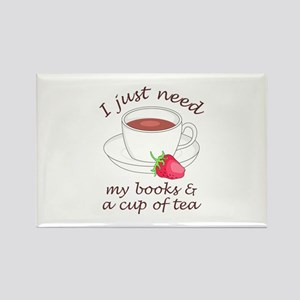 BOOKS AND TEA Magnets