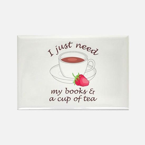 BOOKS AND TEA Magnets