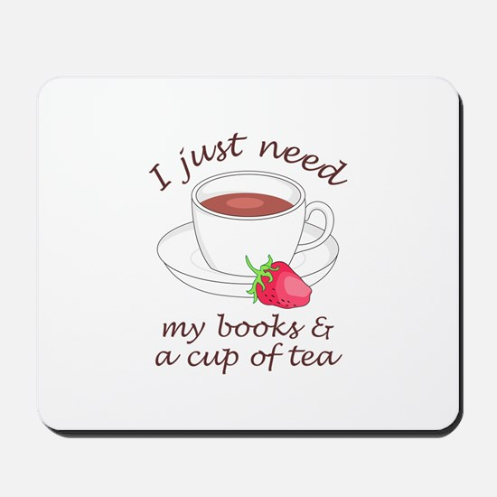 BOOKS AND TEA Mousepad