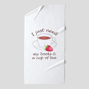 BOOKS AND TEA Beach Towel