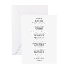 Yoga Poem Light Greeting Cards