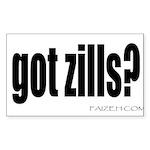 got zills? Rectangle Sticker