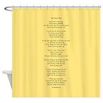 Yoga Poem Tan Shower Curtain