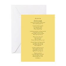 Yoga Poem Tan Greeting Cards