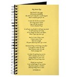Yoga Poem Tan Journal
