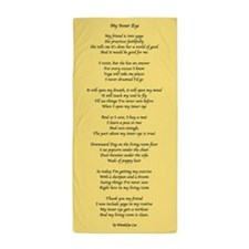 Yoga Poem Tan Beach Towel