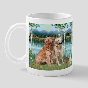 Birches / Golden Mug