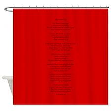 Yoga Poem Red Shower Curtain