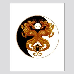 Yin Yang Dragons 7 Small Poster