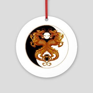 Yin Yang Dragons 7 Ornament (Round)