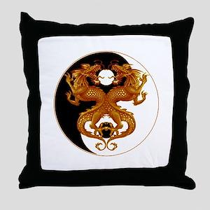 Yin Yang Dragons 7 Throw Pillow